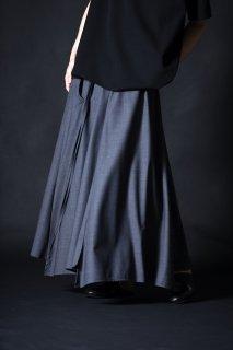 Tropical Wool Unisex 袴 Skirt smoke gray