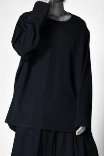Wool Gabardine 01 Pullover black