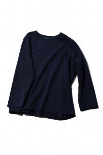 Wool Gabardine 01 Pullover dark navy