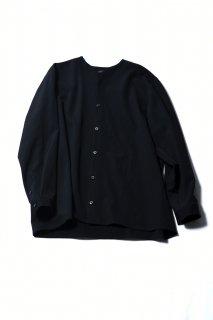 Wool Gabardine 01 Rapel Shirt black