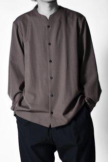 Wool Gabardine 01 Rapel Shirt mocha