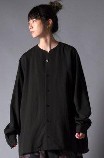 Wool Gabardine 01 Rapel Shirt dark khaki