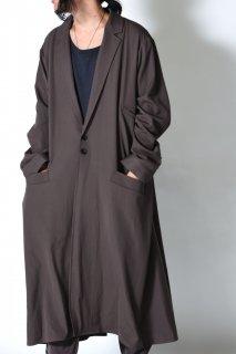 Wool Gabardine Liberty Long Jacket Coat mocha