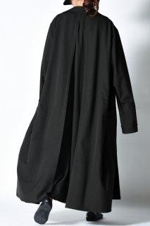 Wool Gabardine Liberty Long Jacket Coat dark khaki
