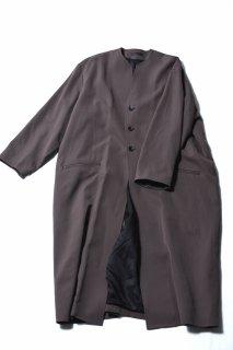 Wool Gabardine 01 Rapel Long Coat mocha