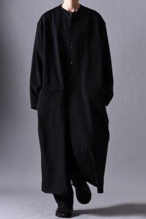 Wool Gabardine 01 Rapel Long Coat black