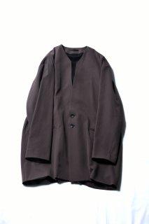 Wool Gabardine 01 Rapel Big Jacket mocha