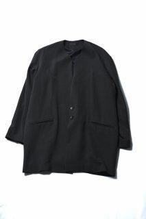 Wool Gabardine 01 Rapel Big Jacket dark khaki