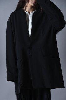 Wool Gabardine 01 Rapel Big Jacket black