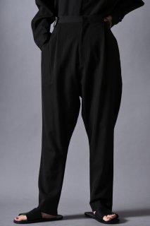 Wool Gabardine Slim Slacks dark khaki
