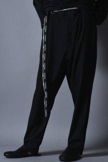 Wool Gabardine Slim Slacks black