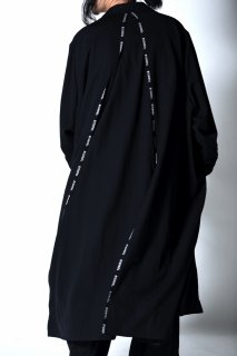 「BISHOOL」 LINE Wool Gabardine Liberty Long Jacket Coat black