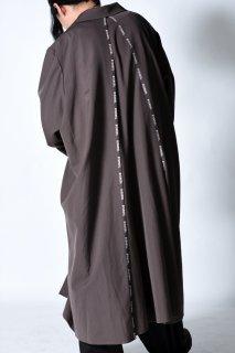 「BISHOOL」 LINE Wool Gabardine Liberty Long Jacket Coat mocha