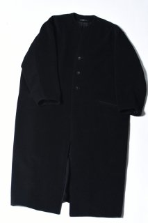 Angora Wool 3 Button Long Coat