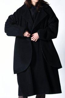 Angora Wool Layered Big Trench Coat