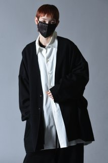 Wool Gabardine 02 Wide Jacket black