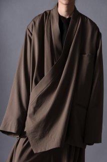 Wool Gabardine KIMONO Drape Jacket beige