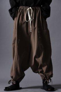 Wool Gabardine Cut Off Goto-Gi Pants beige