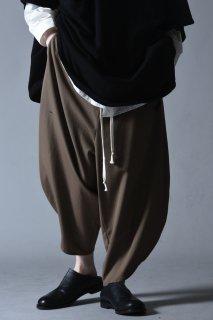 Wool Gabardine Kung-Fu Pants beige