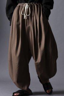 Wool Gabardine 3 Tuck Circle Pants beige