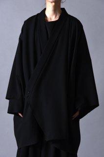 Wool Gabardine KIMONO Drape Haori