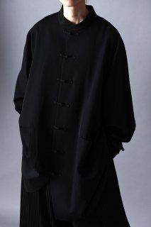 Wool Gabardine China Big Shirt