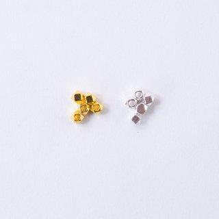 メタルビーズ 多面 4mm(5個入り)