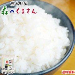 森のくまさん 米 送料無料 お試し 計900g 450g×2 約6合 熊本県産 ポッキリ お米 白米 玄米 コシヒカリ ヒノヒカリ