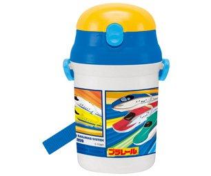 シリコン製 ストローホッパー水筒 340ml プラレール|子供用/SST3H_367014