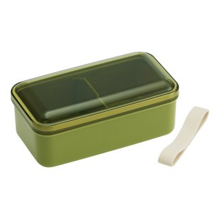 ふんわり弁当箱 580ml 仕切り付 レトロフレンチカラー グリーン|食洗機対応|電子レンジ対応/SLLB6_374982