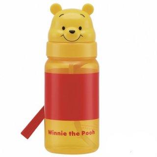 キャラクター型 ストロー式ボトル 350ml くまのプーさん|子供用/PBS3STD_386350