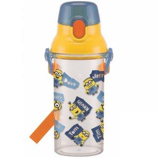 直飲み プラスチック クリアボトル水筒 480ml ミニオンズ|食洗機対応|子供用/PSB5TR_391217