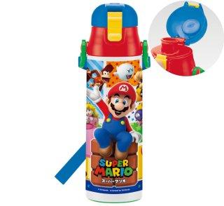 超軽量 ワンプッシュ 直飲みステンレスボトル ロック付  580ml スーパーマリオ|保冷専用|子供用/SDC6N_412912