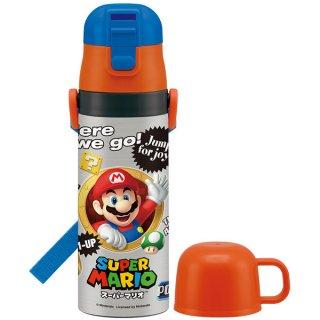 キャップ付替え式 2way ステンレスボトル 430-470ml スーパーマリオ|保冷・保温|子供用/SKDC4_439933