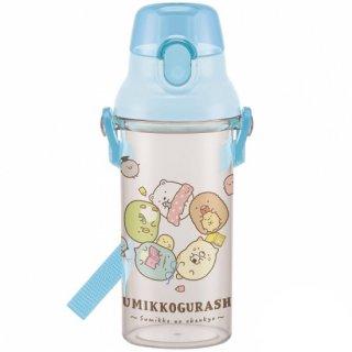 直飲み プラスチック クリアボトル水筒 480ml すみっコぐらし おべんきょう|食洗機対応|子供用/PSB5TR_446337