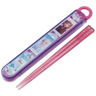 名入れスペース付 スライド式 箸・箸箱セット 箸16.5cm アナと雪の女王2|食洗機対応/ABS2AM_476785