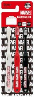 歯ブラシ3本セットキャップ付 MARVEL ロゴ/TB6ST_464041