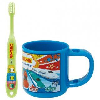 スタンド付コップ歯ブラシセット プラレール19/KTB5_493201