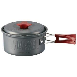 【アウトドア】フタ付き アルミ鍋(13cm) MARVEL マーベルロゴ/AN15_494284