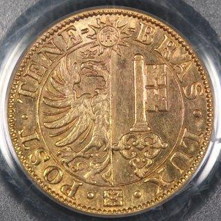 スイス Switzerland ジュネーブ Geneve 20フラン金貨 1848年 PCGS MS62