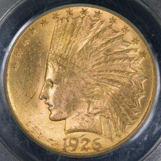 アメリカ United States of America インディアンヘッド 10ドル金貨 1926年 PCGS MS63