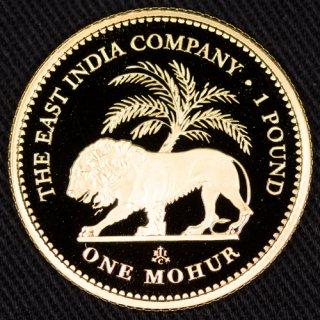 イギリス領 セント ヘレナ Saint Helena 東インド会社 モハール金貨 プルーフ 2017年