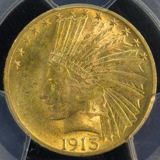 アメリカ United States インディアンヘッド 10ドル金貨 1913年 PCGS MS61