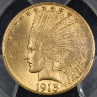アメリカ United States of America インディアンヘッド 10ドル金貨 1913年 PCGS MS64