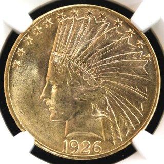 アメリカ United States インディアンヘッド 10ドル金貨 1926年 NGC MS63
