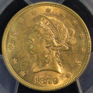アメリカ United States コロネットヘッド 10ドル金貨 1879年 PCGS MS61
