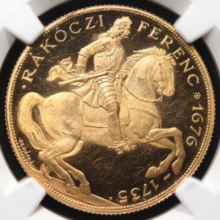 ハンガリー Hungary ラーコーツィ・フェレンツ2世 生誕200周年 40ペンゴ金貨 1935年BP NGC PF63 ULTRA CAMEO
