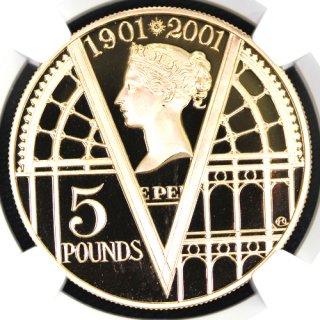 イギリス Great Britain ヴィクトリア女王 追悼100年記念 5ポンド金貨 2001年 NGC PF69 ULTRA CAMEO