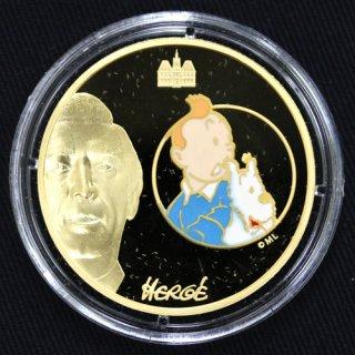 フランス タンタンの冒険 TINTIN&SNOWY 50ユーロ金貨 1オンス 2007年