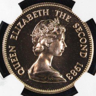 中国 China 香港 干支金貨シリーズ 亥 Year of the Pig 1000ドル 1983年 NGC MS68